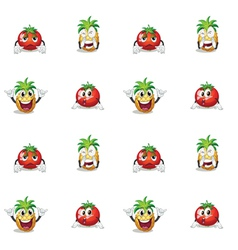 Tomato and pineapple vector