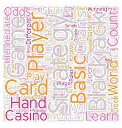 Play blackjack like a pro text background vector