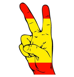 Peace sign of the spanish flag vector