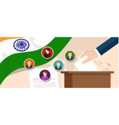 India democracy political process selecting vector