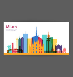 milan colorful architecture vector image