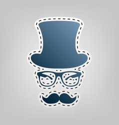 Hipster accessories design  blue icon with vector