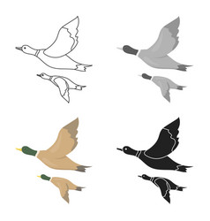 Ducks icon in cartoon style isolated on white vector