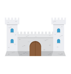 Medieval castle isolated on white background vector