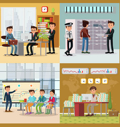 Colorful business concept vector