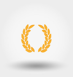 Laurel wreath victory icon vector