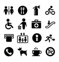 International service signs icon set vector