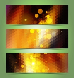 Mosaic gradient geometric banner set vector