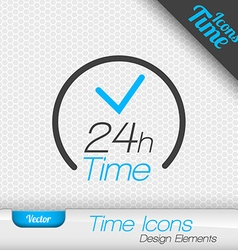 24 Hours Icon Design Elements vector image