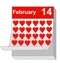 February 14 valentines day the day of love vector