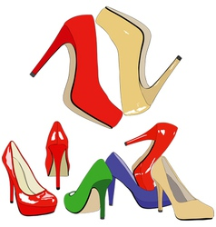 A nice shoe store vector