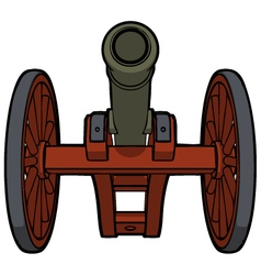 Civil war cannon view bottom vector