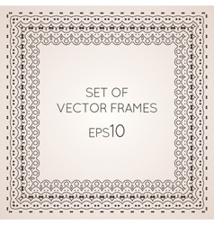 Set intricate frames vector