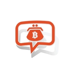 Bitcoin purse message sticker orange vector