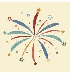Vintage Firework vector image
