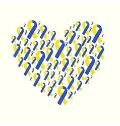 World down syndrome day yellow blue ribbon vector