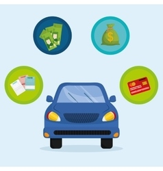 Car taxes design vector