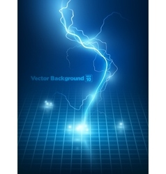 blue lightning flash vector image