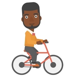 Man cycling to work vector