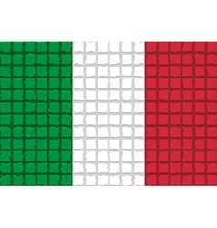 The mosaic flag of Italy vector image
