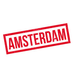 Amsterdam rubber stamp vector