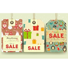Christmas and new year sale tags vector
