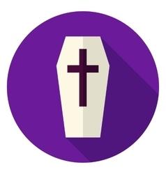 Coffin circle icon vector