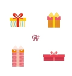Cute present objects vector image