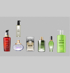 digital red green perfume vector image