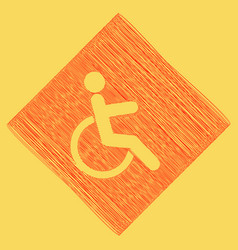 Disabled sign red scribble vector