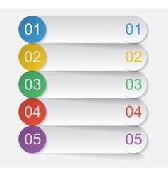 Five bookmarks vector image vector image