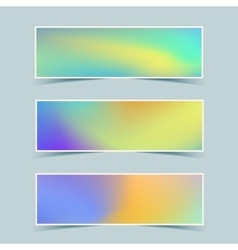 Fluid colorful banners set vector image vector image