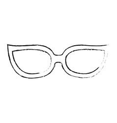 glasses accessory icon vector image