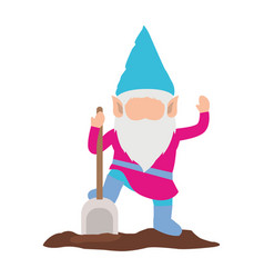 gnome without face and colorful costume with vector image vector image