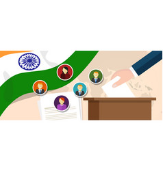 India democracy political process selecting vector