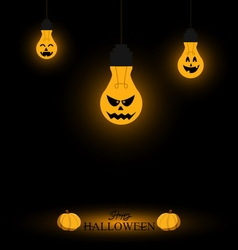 Light bulb halloween background vector image vector image
