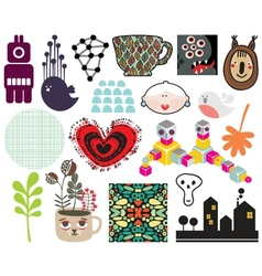 Mix of different images and icons vol68 vector image vector image