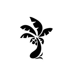 palm tree icon simple flat vector image
