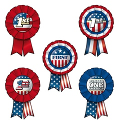 Ribbon USA First vector image vector image