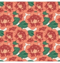 Seamless decorative pattern with flowers vector
