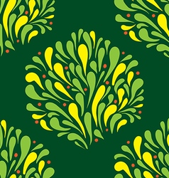 seamless texture bush stylized vector image
