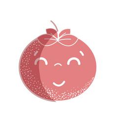Silhouette kawaii nice happy tomato vegetable vector