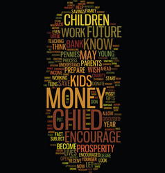 teach your child about money text background word vector image vector image