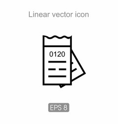 Ticket icon from public transport vector