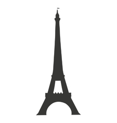 tower eiffel paris isolated icon vector image vector image