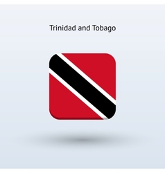 Trinidad and tobago flag icon vector