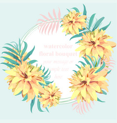 tropical paradise floral card summerl vector image