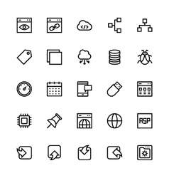 User Interface Colored Line Icons 32 vector image vector image