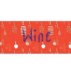 Wine banner design with bottles vector image