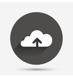 Upload to cloud icon upload button vector